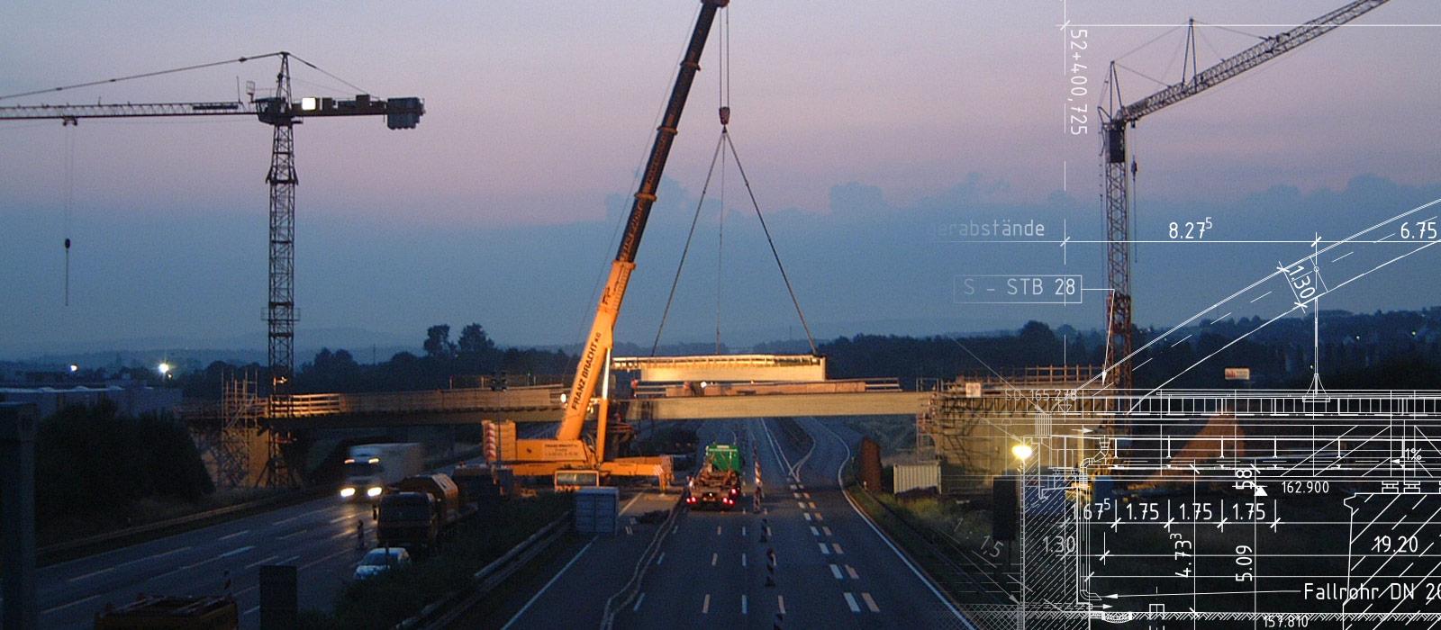 Brückenbaustelle