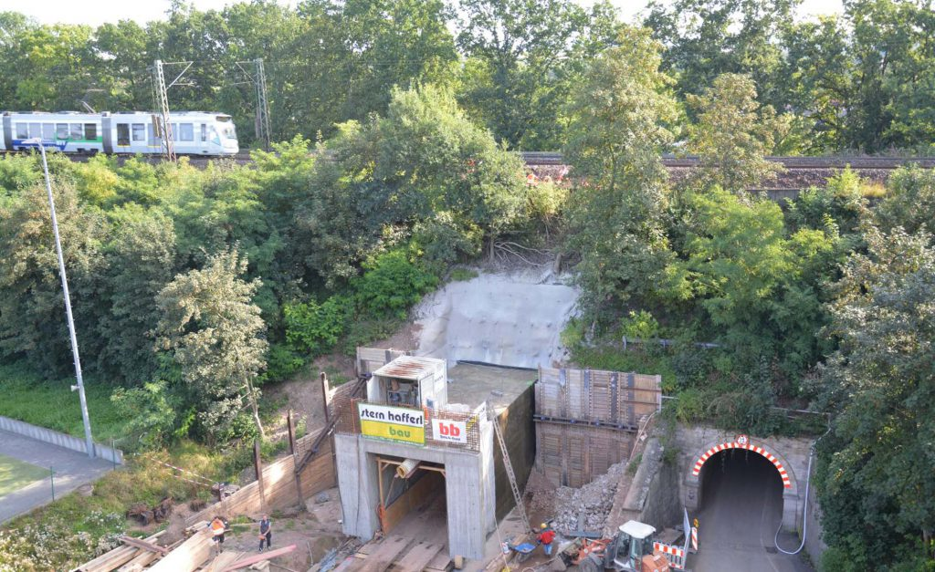 beck-bau Tiefbau Eisenbahntunnel Obervellmar