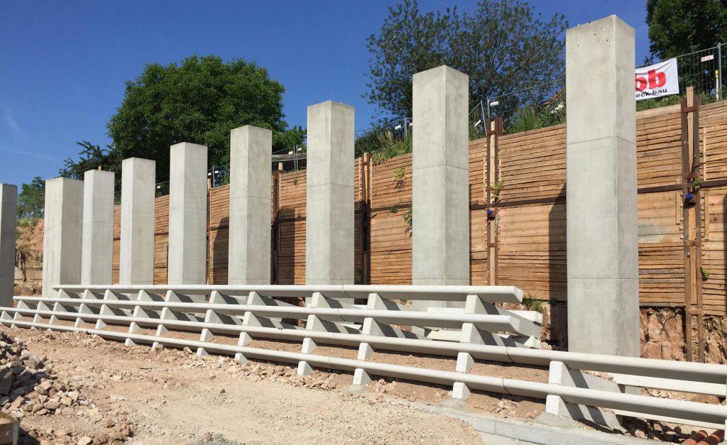 beck-bau Laermschutzwand aus Beton
