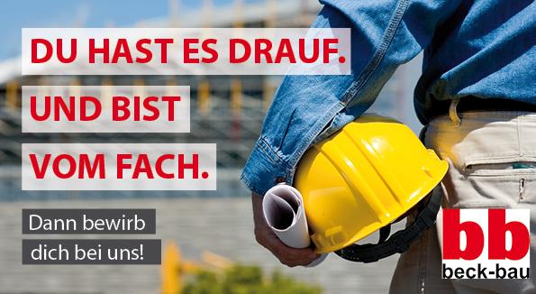 Stellenanzeige Banner Beckbau Eschwege