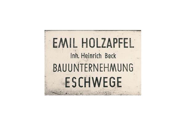 Emil Holzapfel beck-bau Eschwege