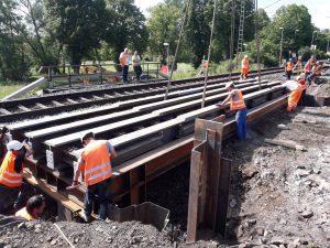 Eisenbahnüberführung Friedelhausen - Firma beck bau